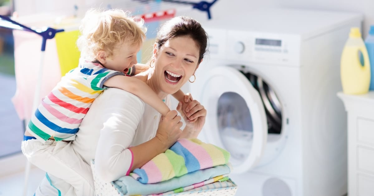 laundry hack for busy moms