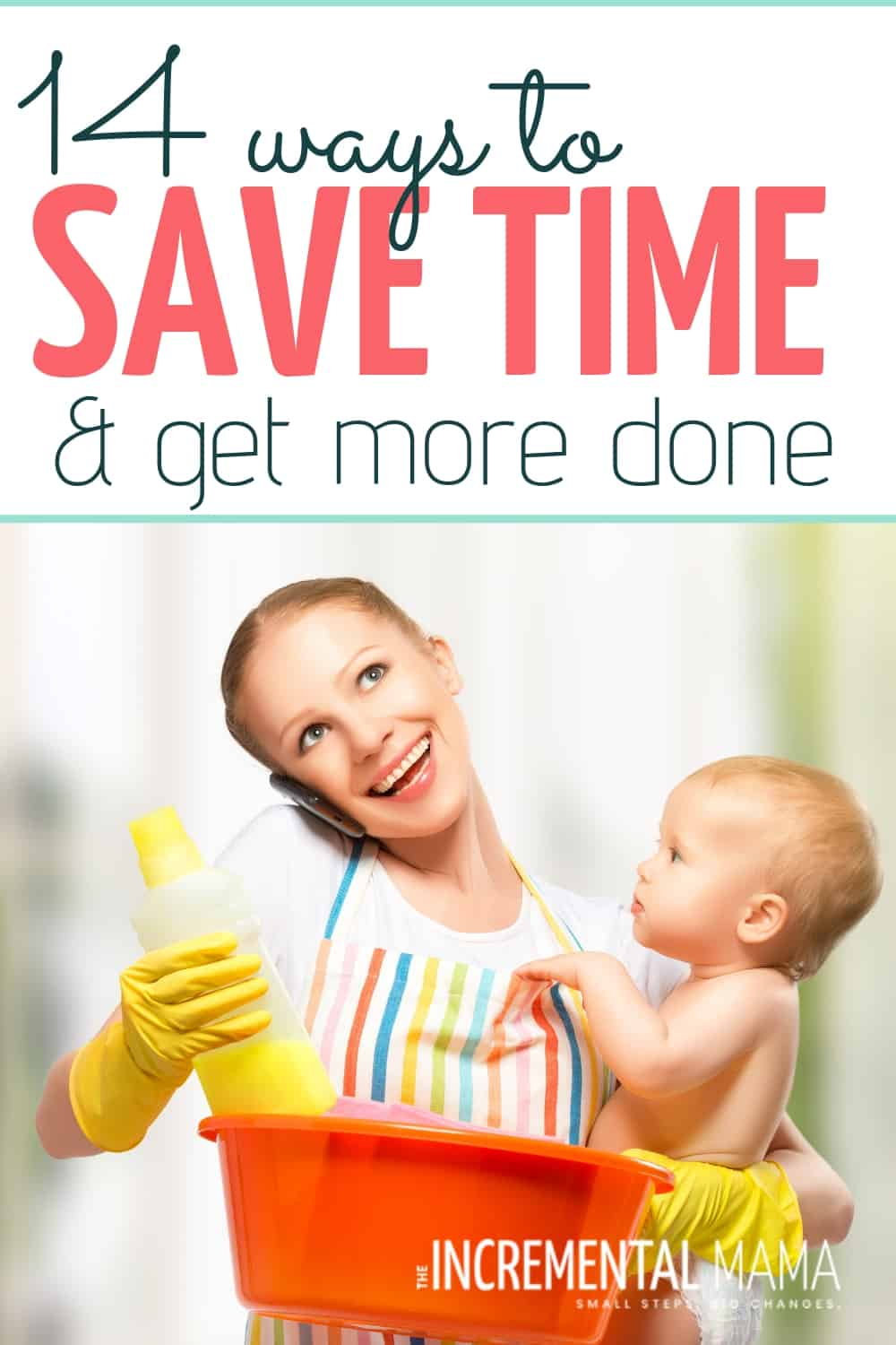 These 14 time management tips for moms will help even the most overwhelmed moms create routines that make life easier & happier. #timemanagementtipsformoms #timesavingtips