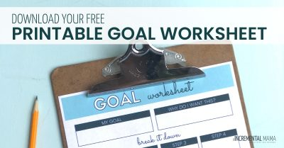 free printable goal worksheet