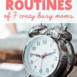 morning routine of working moms
