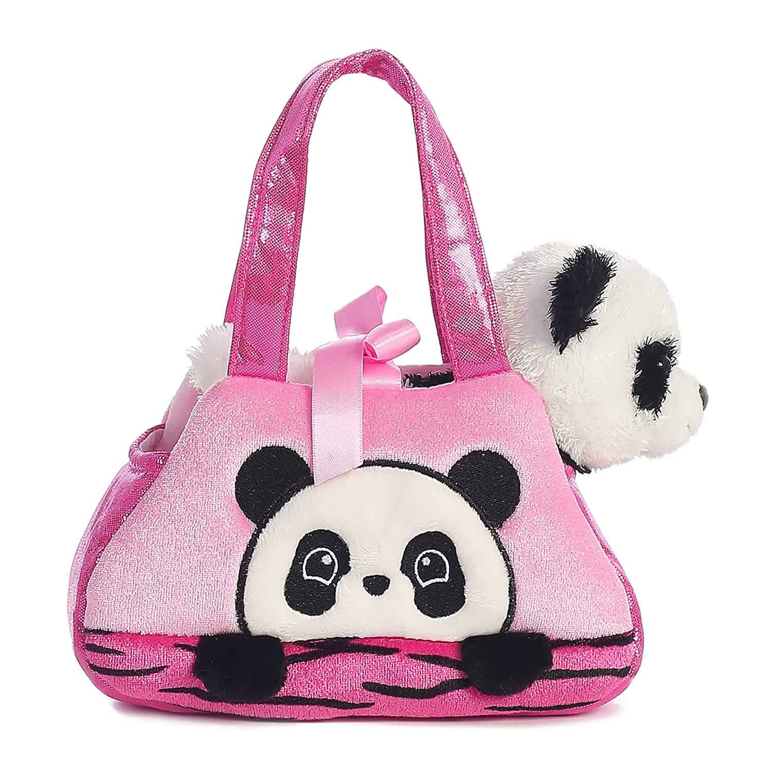 plushie and panda purse