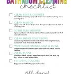 bathroom cleaning checklist printable