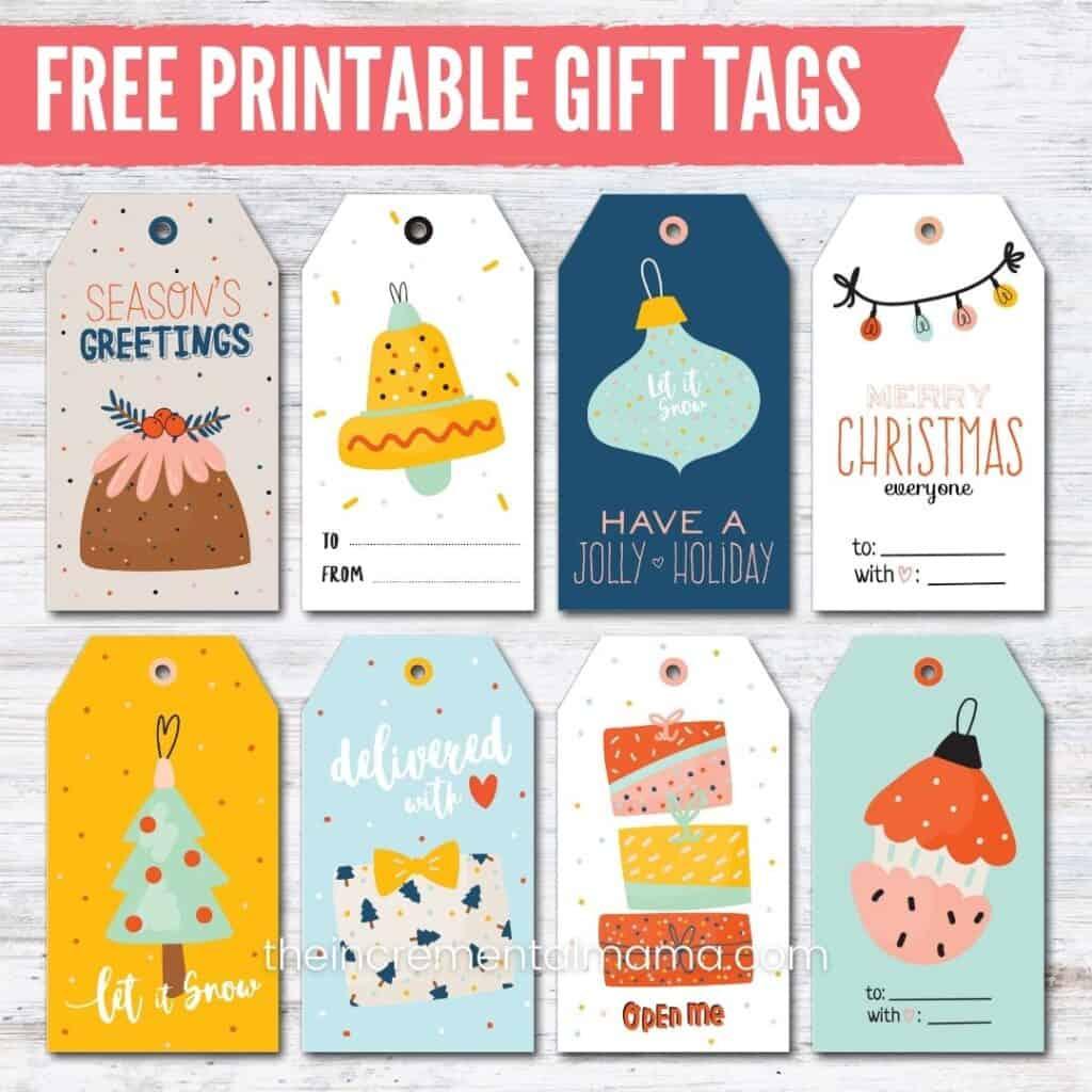 cute christmas tag printable