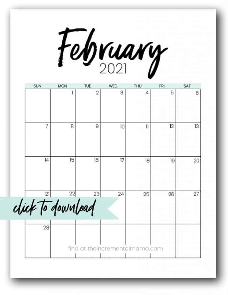 Free 20 Monthly Calendar Printable PDFs   The Incremental Mama