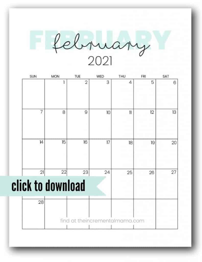 free february 2021 printable calendar