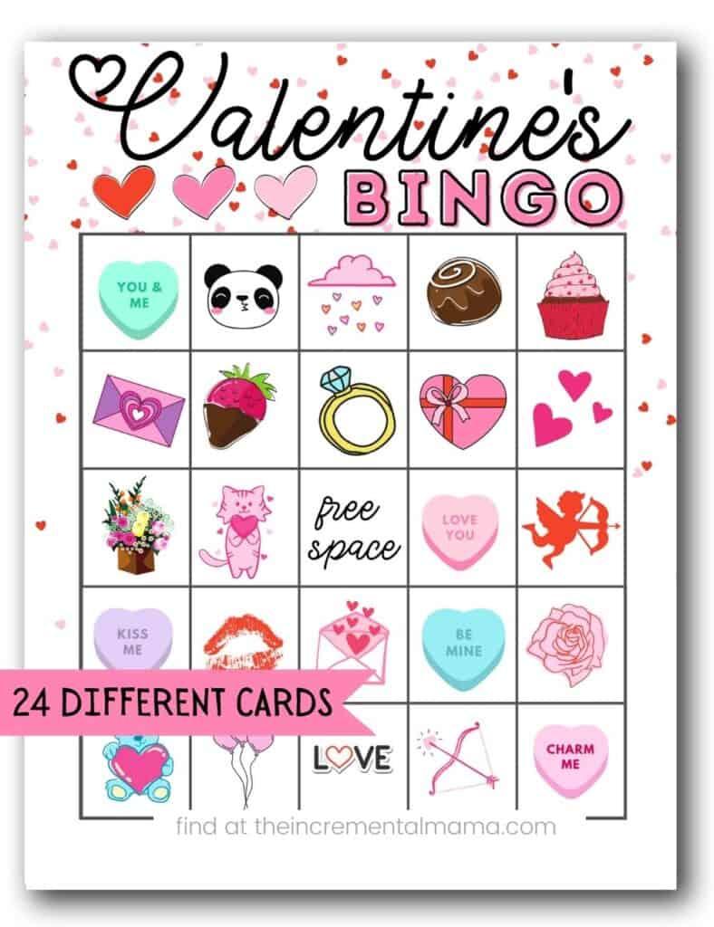 24 Valentine Bingo Cards