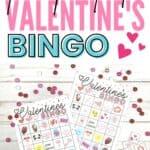 valentine bingo card template