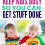 screen-free ways to keep kids busy