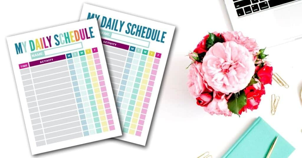 daily schedule template pdf for kids