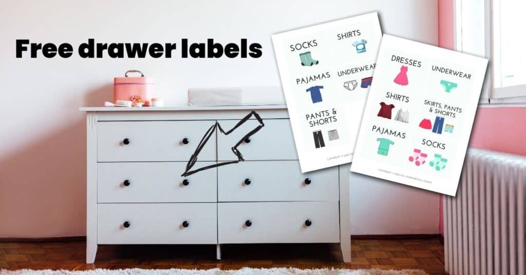 drawer labels for kids clothes