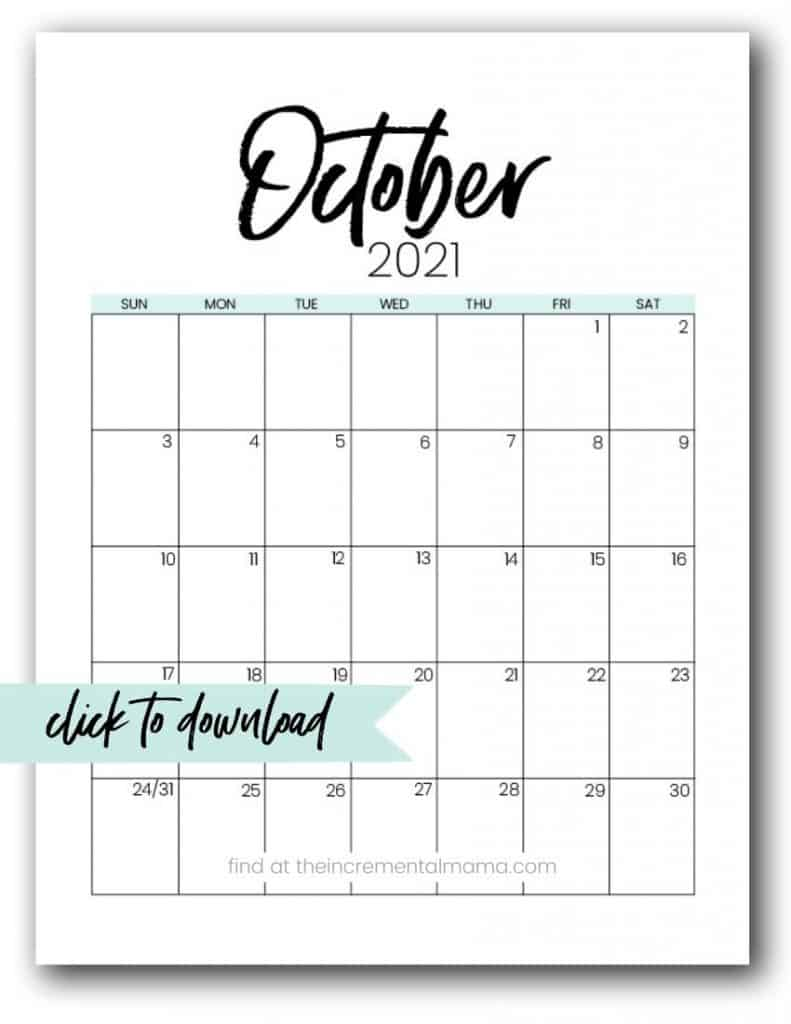 Free 2021 Monthly Calendar Printable PDFs - The ...