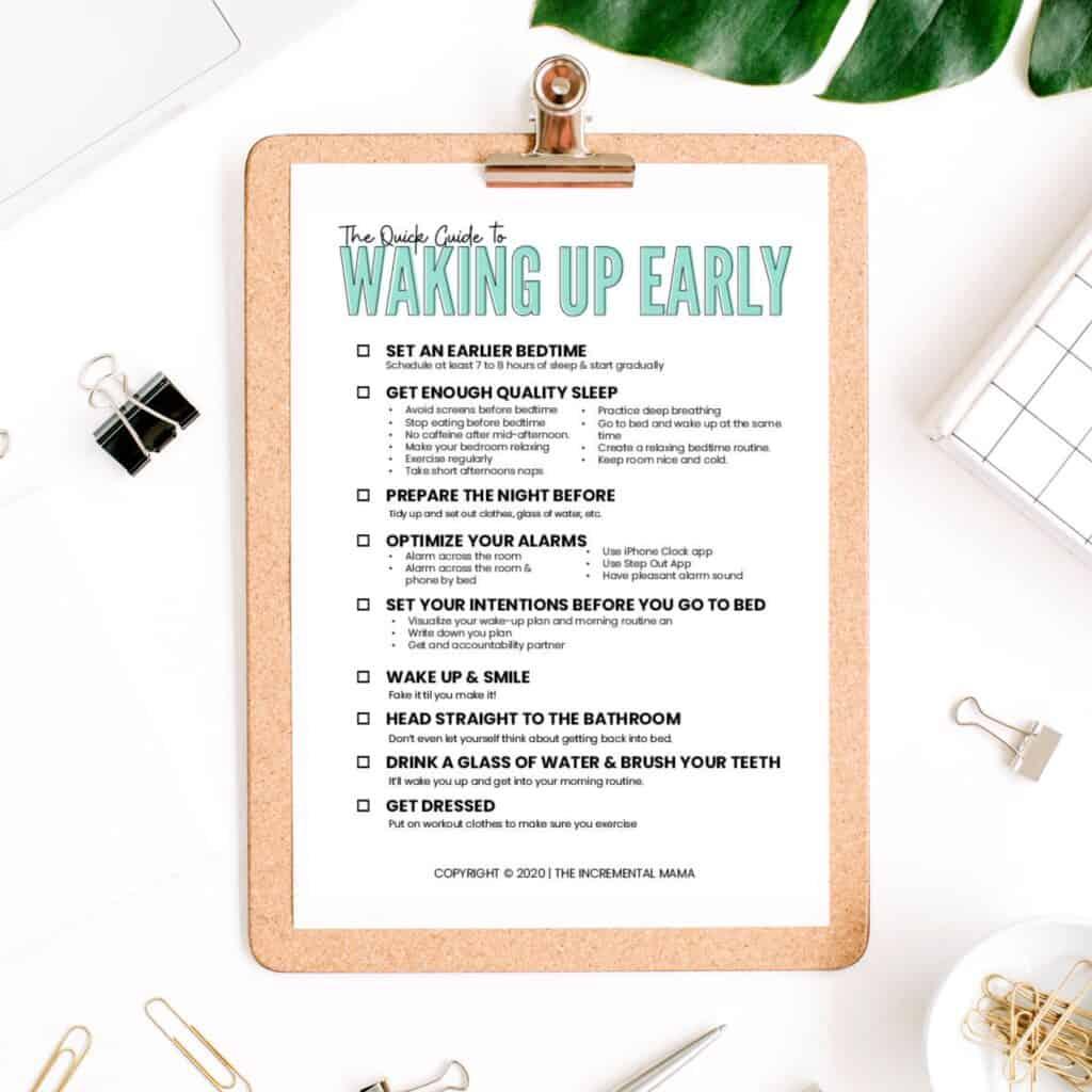 wake up early printable