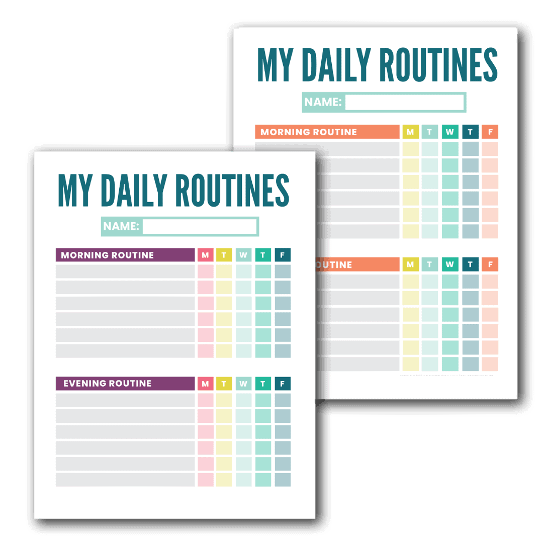 morning and routine chart for kids