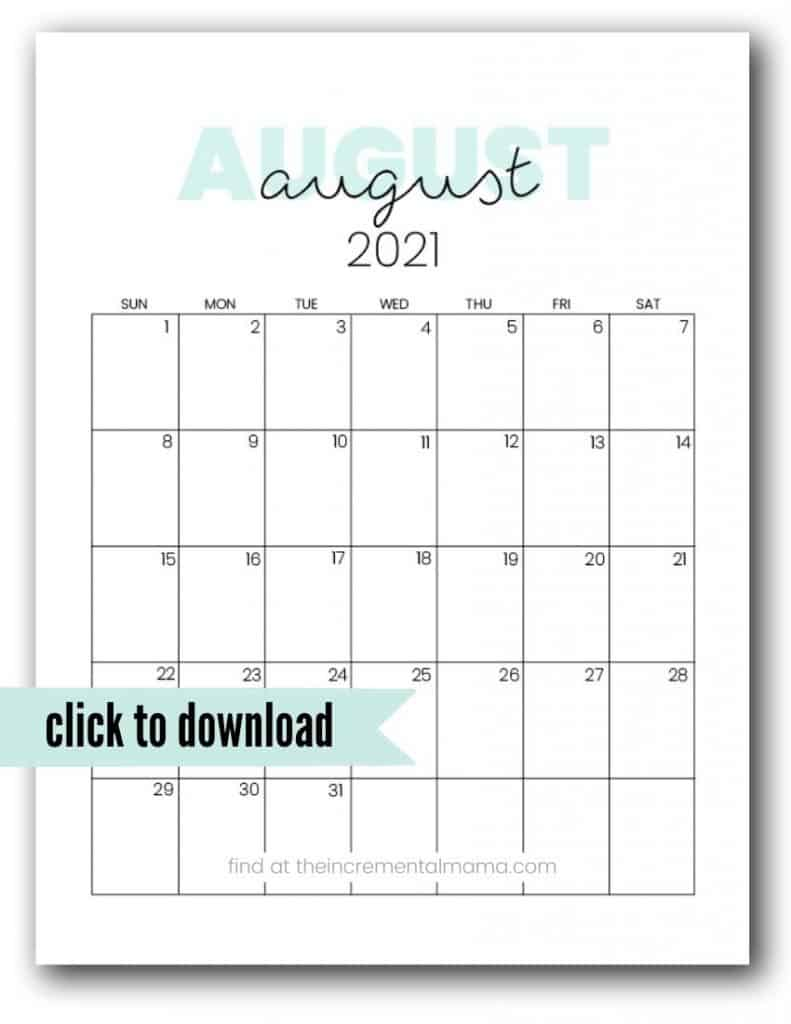 free august 2021 printable calendar