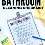 bathroom cleaning checklist for kids pdf