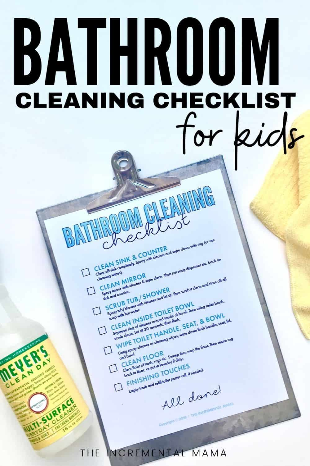 pdf checklist for bathroom cleaning