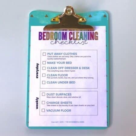 free printable bedroom checklist