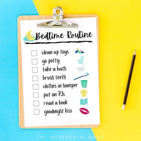 free bedtime routine charts for kids