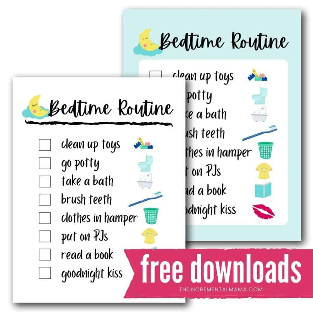 Free Printable Bedtime Routine Chart For A Smooth Tear Free Evening The Incremental Mama