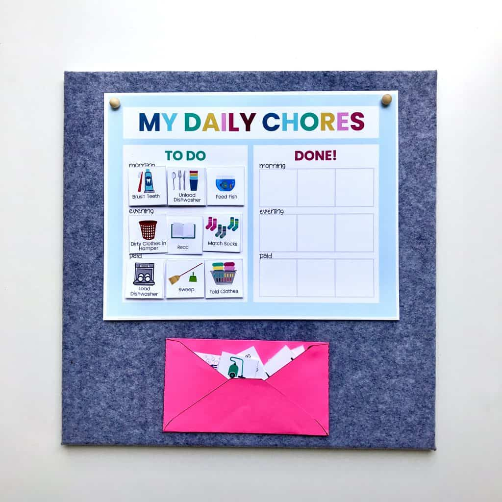 picture chore chart