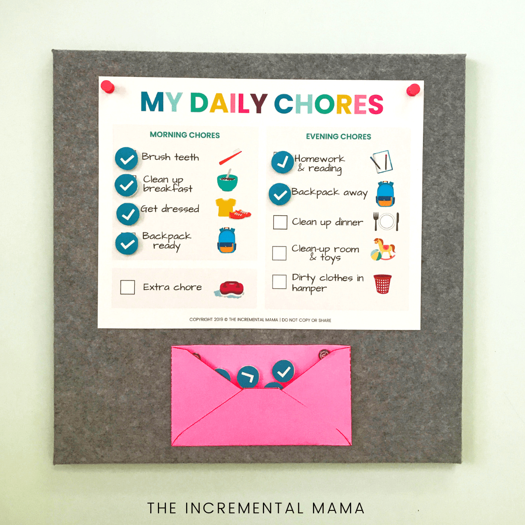 free printable picture chore chart for 5-6 year olds