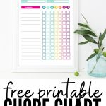 Free printable chore chart template