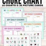 preschool chore chart with pictures