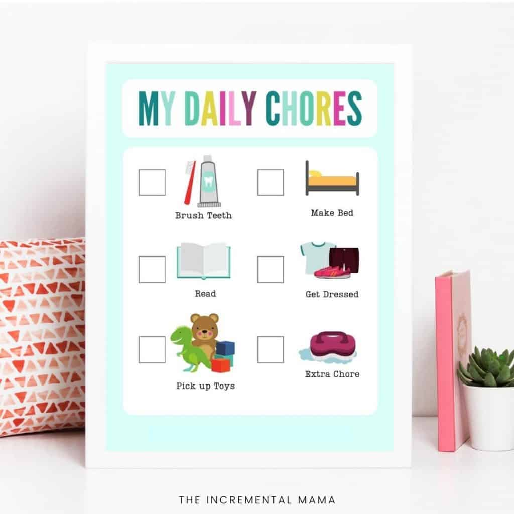 Chore charts with pictures