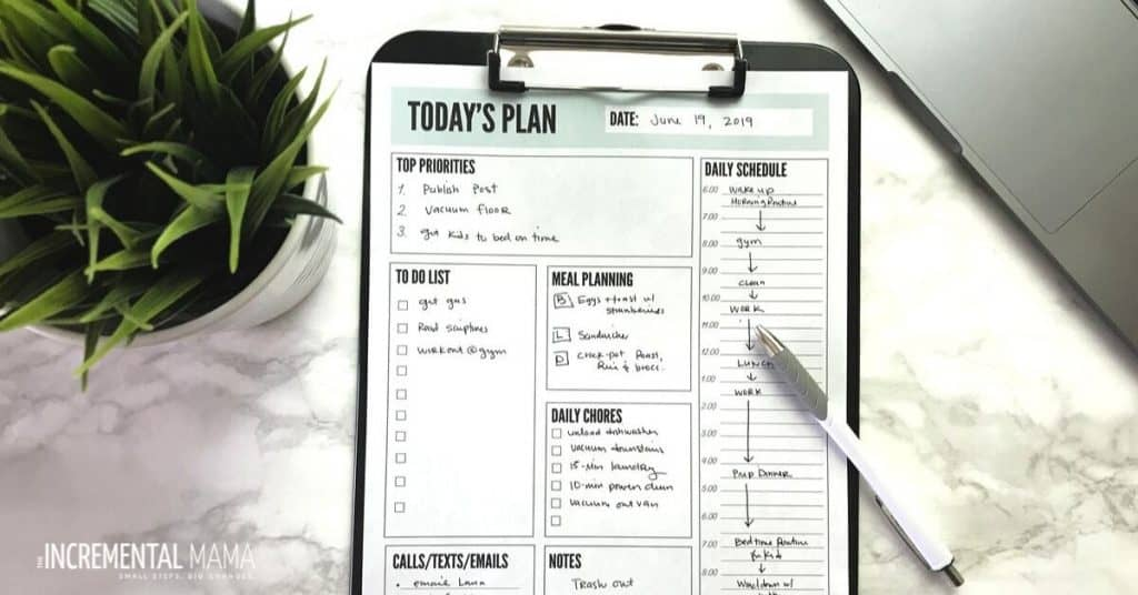 daily planner template printable-4