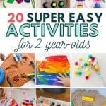 mess-free easy activities for toddler