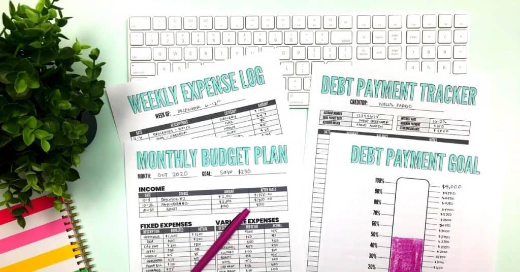 free blank budgeting worksheets