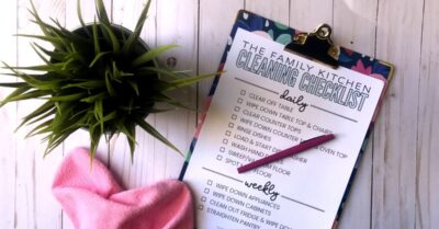 printable kitchen cleaning checklist for kids