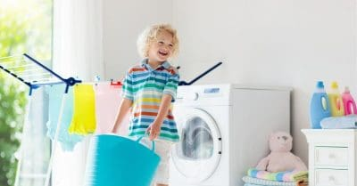 get kids to help with laundry