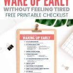 checklist how to wake up early