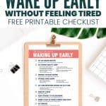 Checklist how to wake up early in the morning