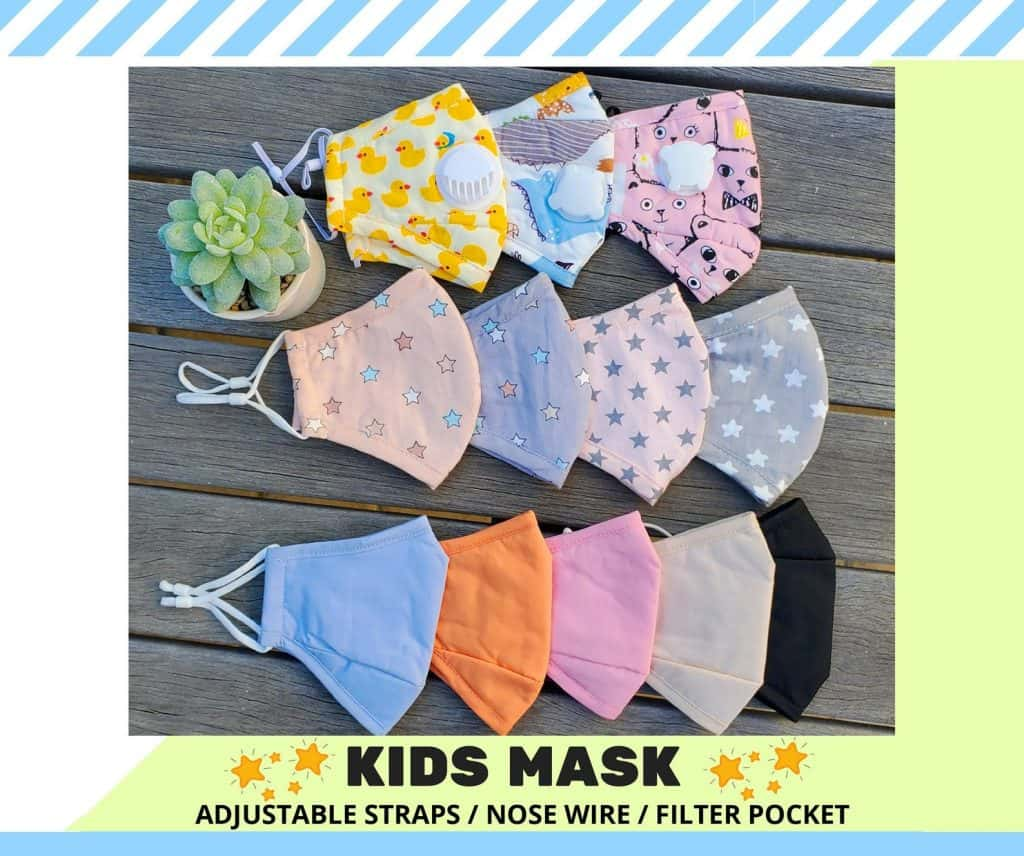 kids face mask with filter