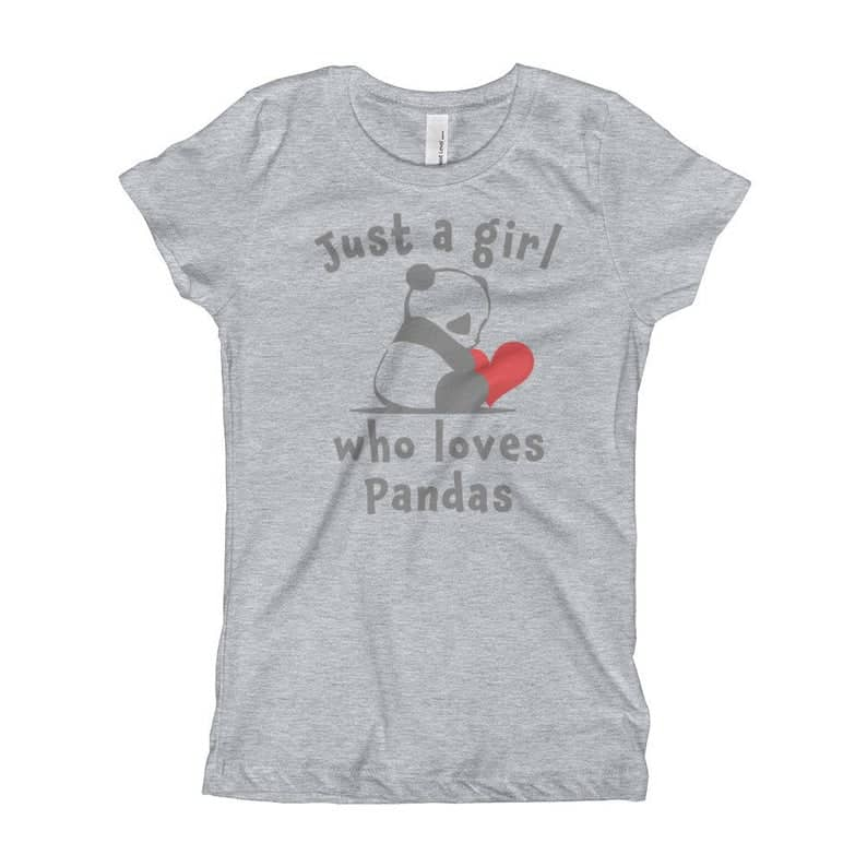 just a girl who loves pandas shirt