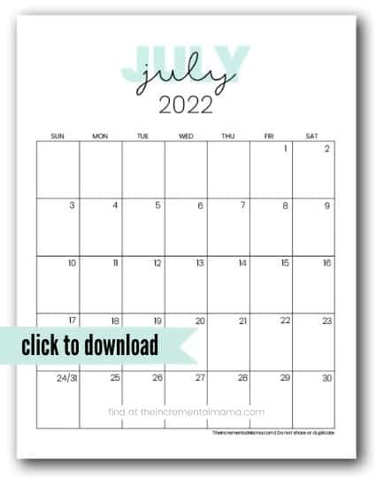 free printables calendars