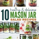 healthy meal prep mason jar salads