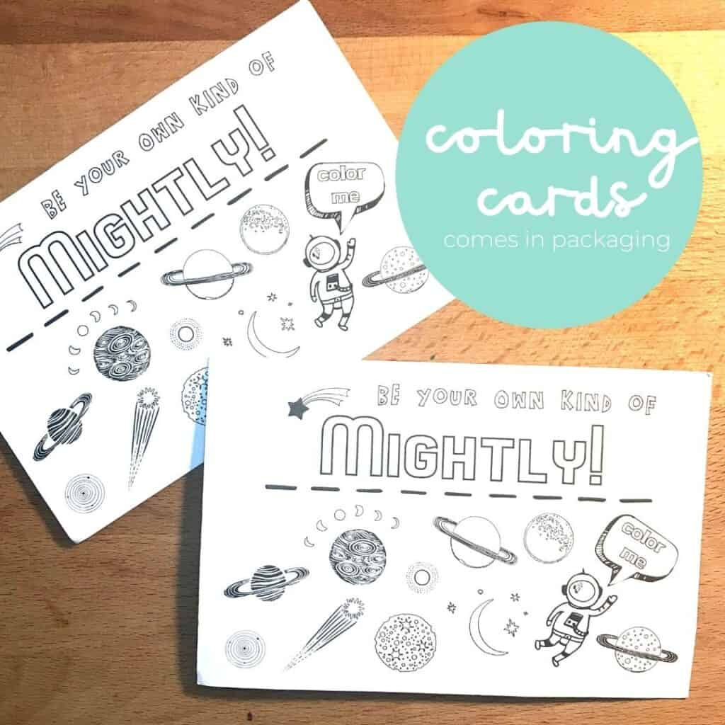 mightly coloring card
