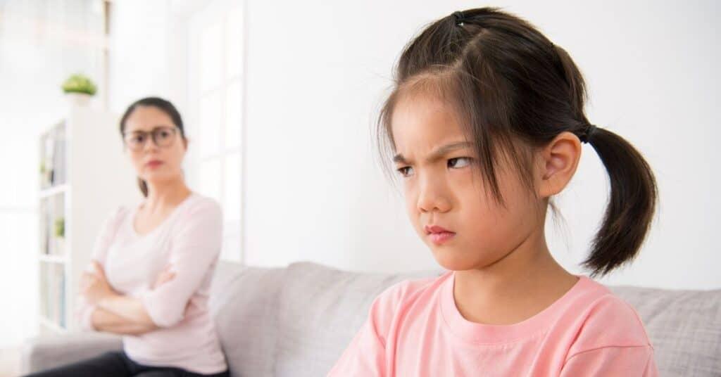 upset kid won't do chores