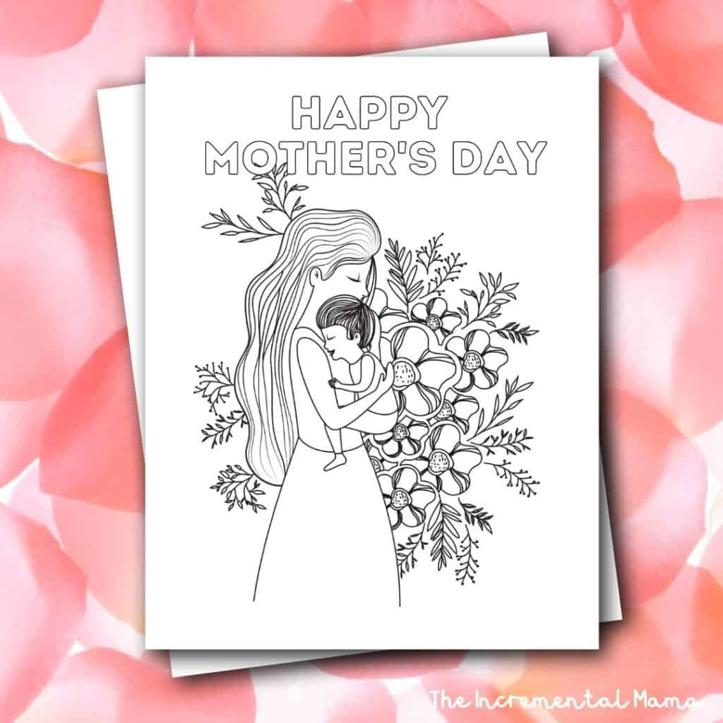 free printable mother's day color page