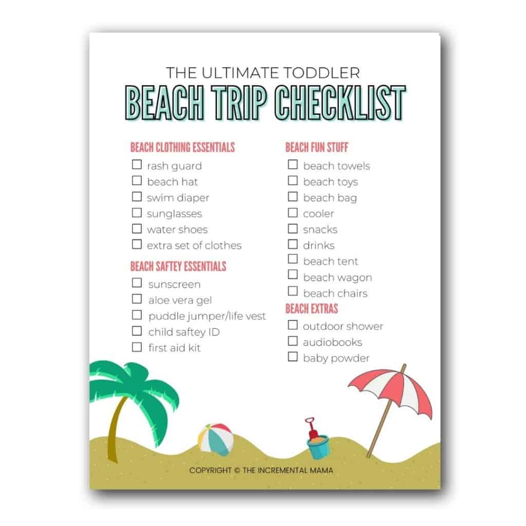 printable beach packing checklist