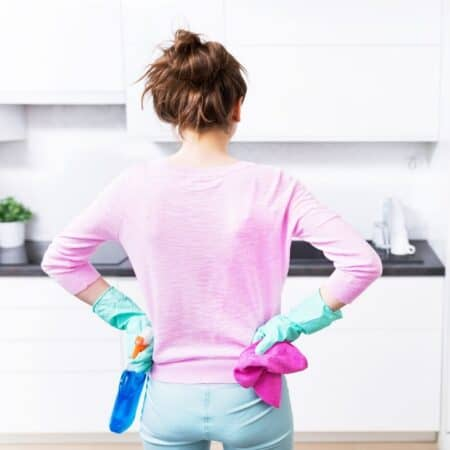 clean a disgusting house