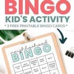neighborhood walk bingo printable