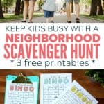 neighborhood walk bingo