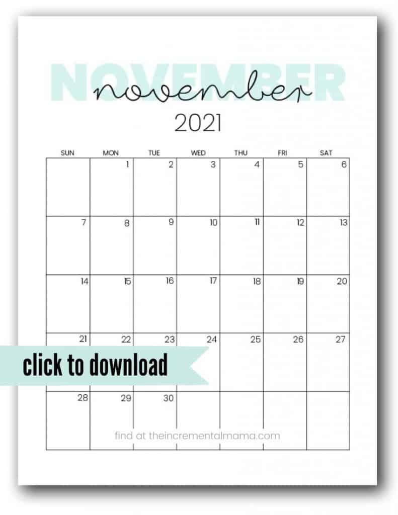free printable november 2021 calendar template