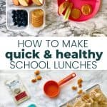 healthy and easy school lunches for kids