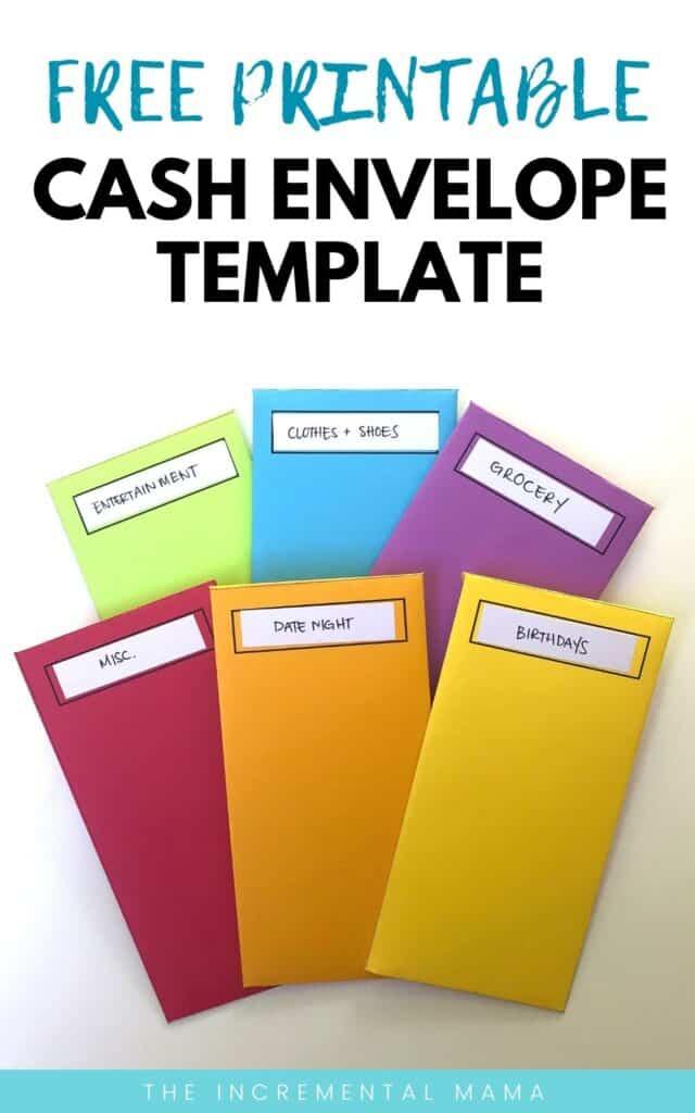 vertical cash envelope template free printable