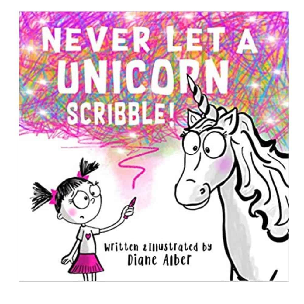 Never Let Unicorns Scribble book